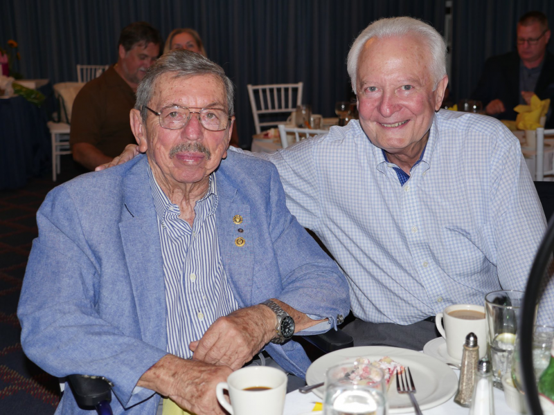 Two longstanding Superstars in our club, Dr. Bob Bunn and Michael McLain