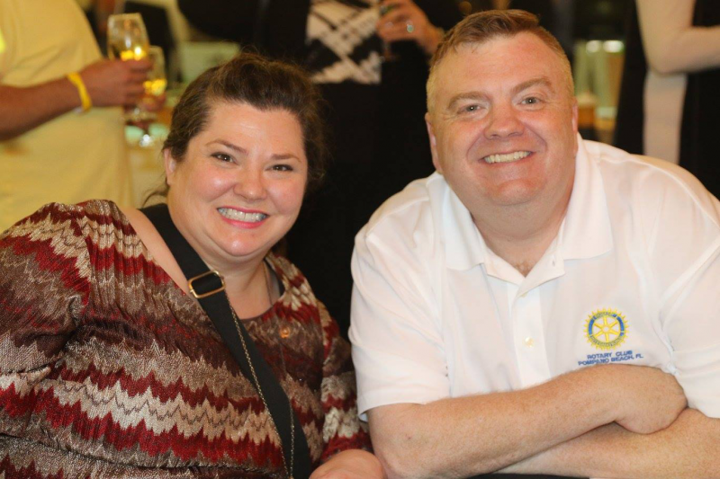 Rotarians Whitney Metevia and Randall Bishop